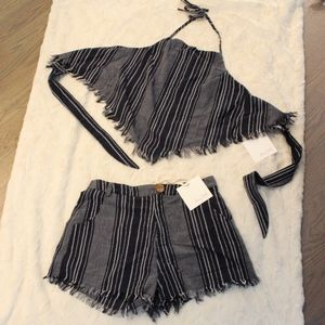 *Tags* NWT: Two Piece Pinstripe Set